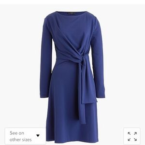 Jcrew tie knot long sleeve dress